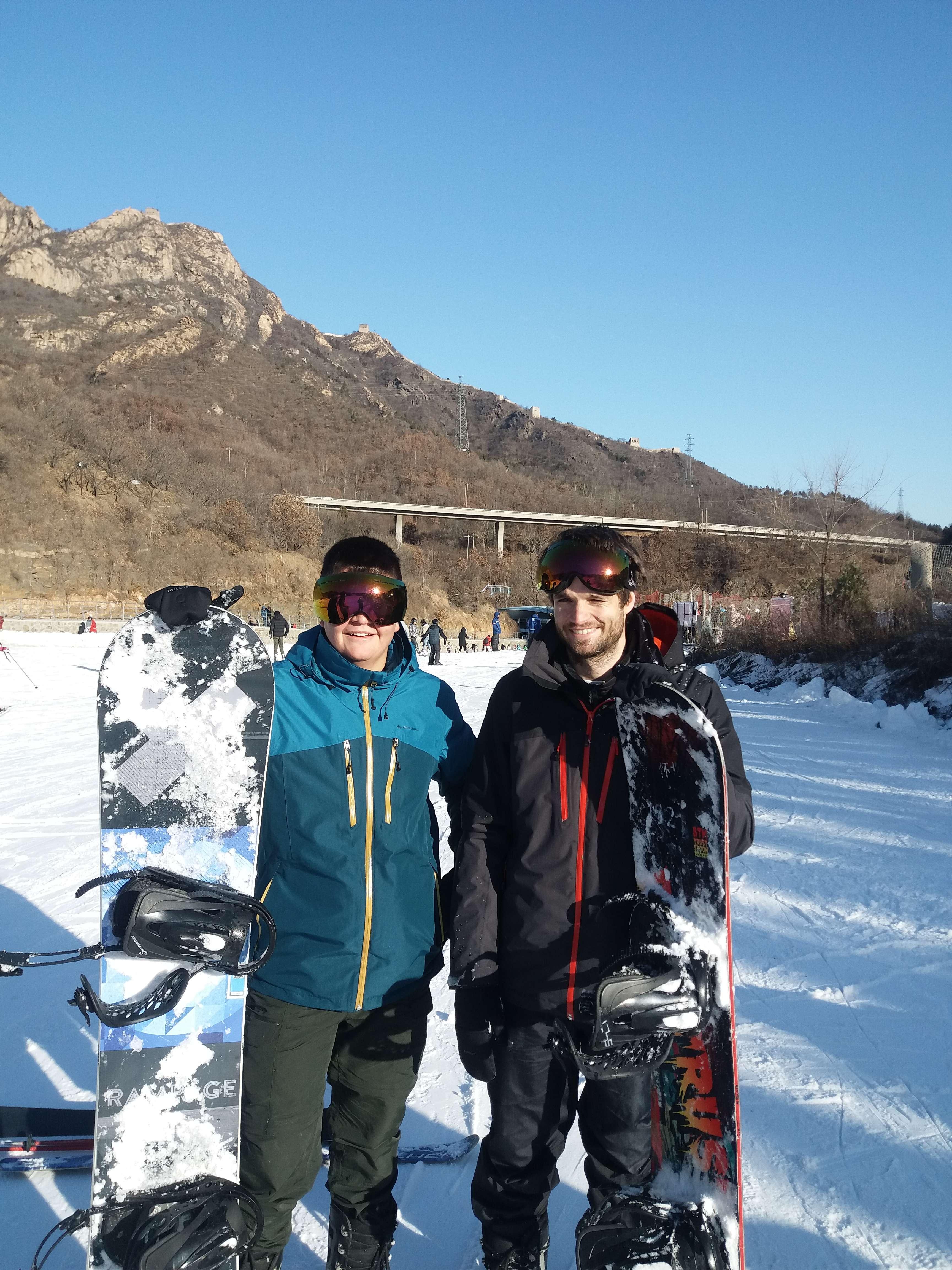 skiing in china at the huaibei international ski resort